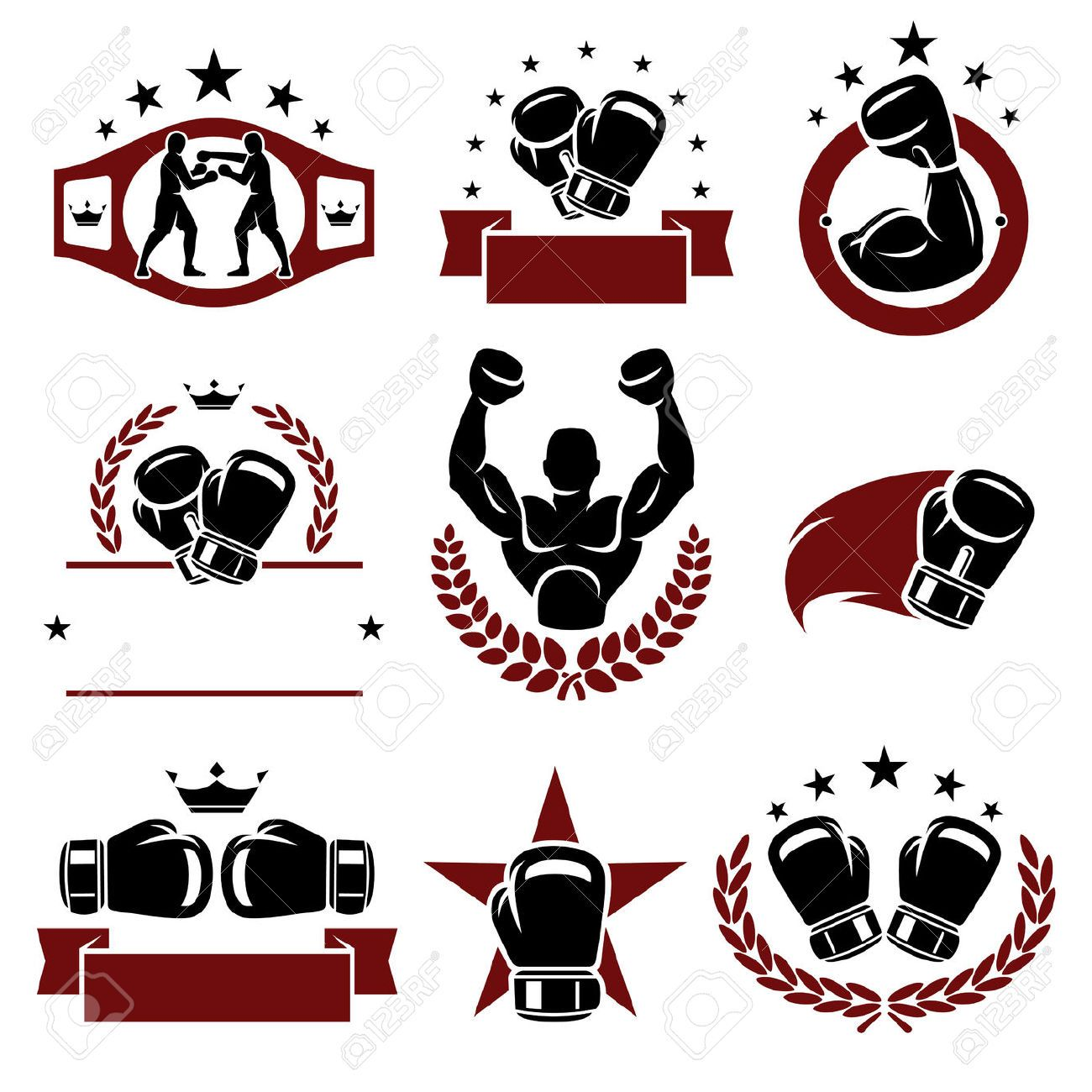 boxing gloves silhouette vector Google Search If, no