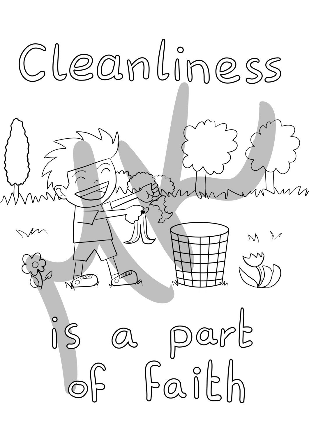 Cleanliness Is A Part Of Faith By Ramady On Etsy