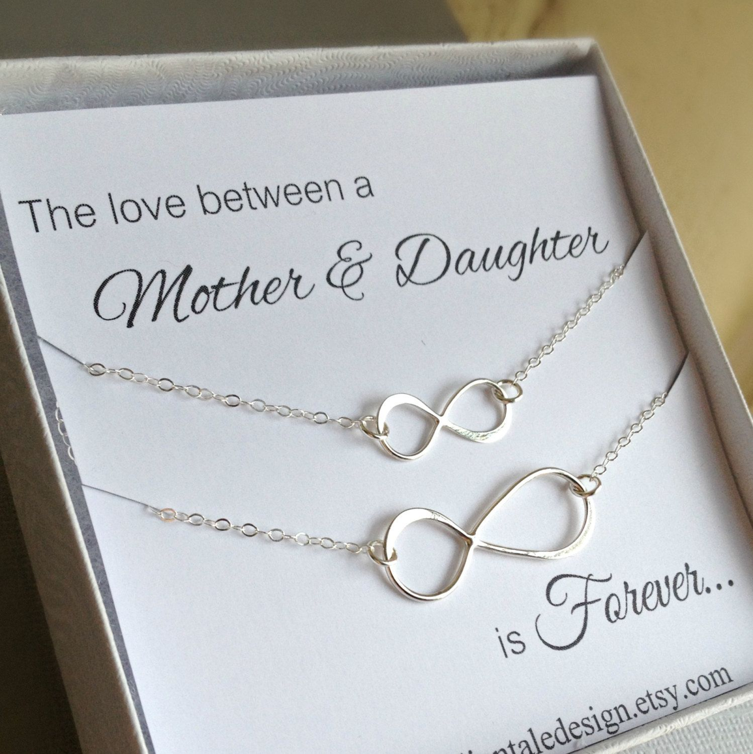 Mother Daughter Necklace Set Infinity by