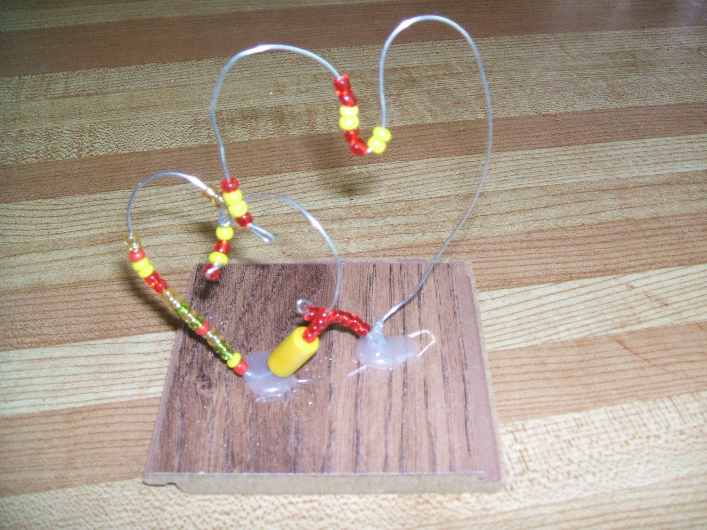 Wire and bead sculpture. Quite easy to make with early