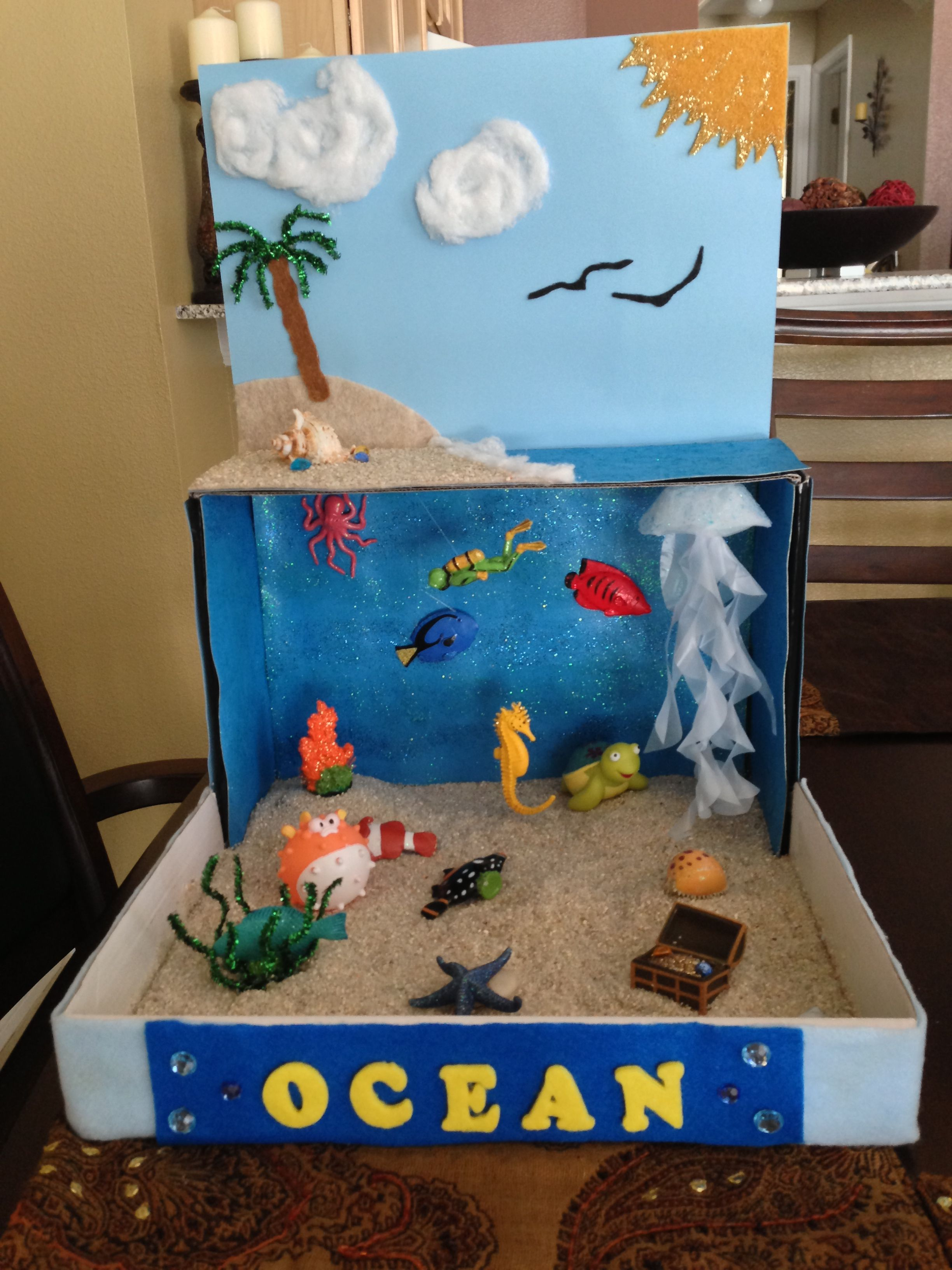 Ocean Diorama For School Project Idea For Henry 2nd Grade Project Remember To Use Those Extra