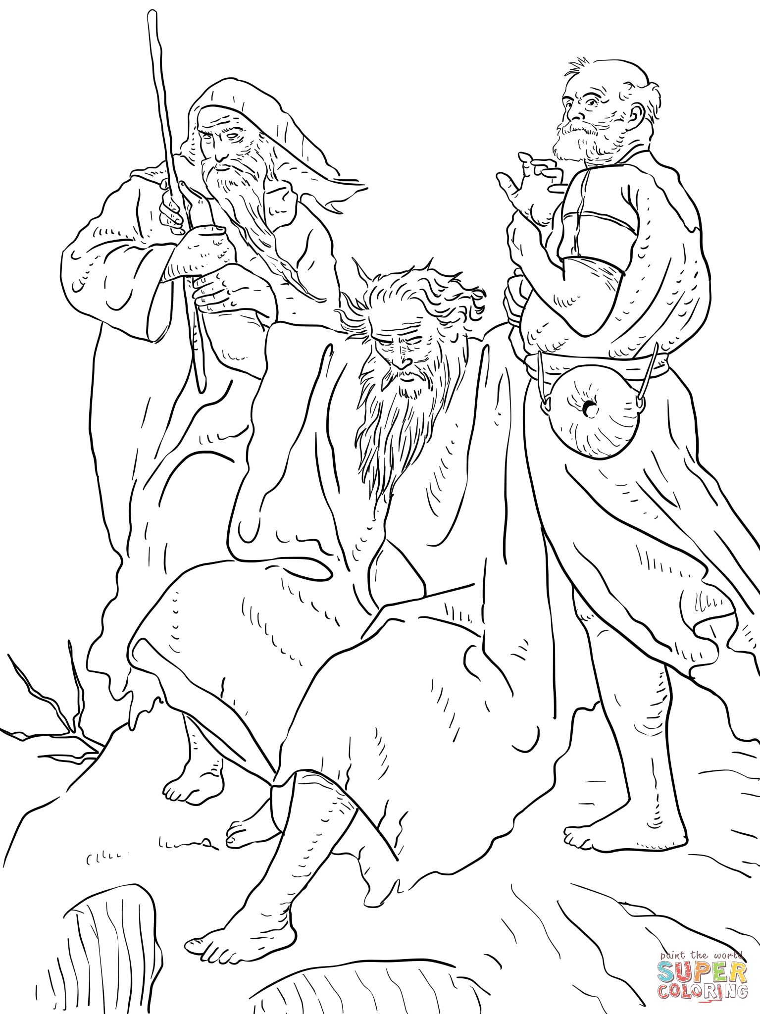 Free Coloring Page Of Aaron Helps Moses Exodus