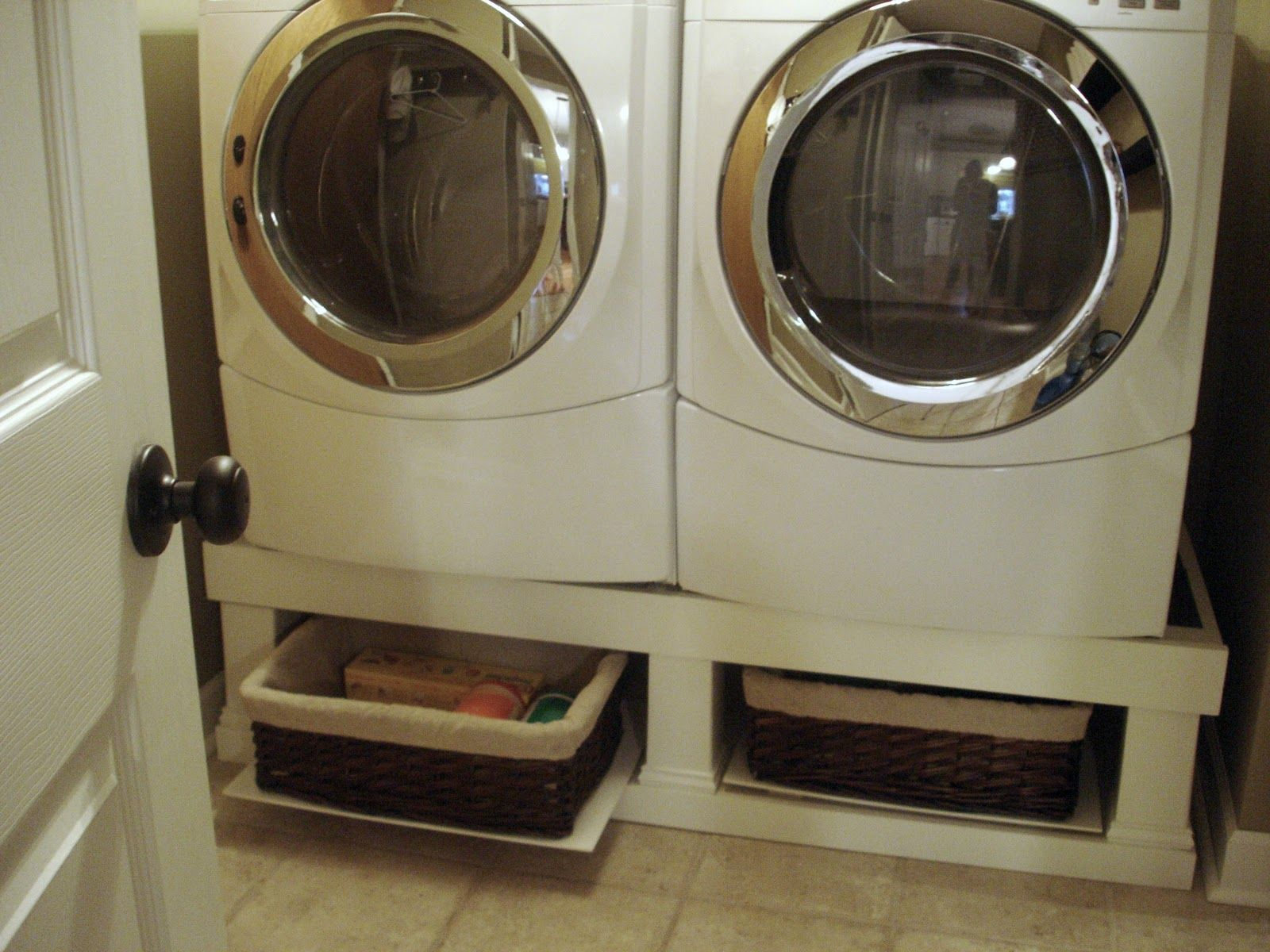 Crazy Wonderful Washer Dryer Stand Installed