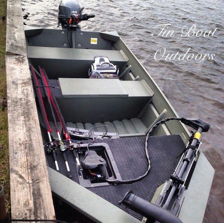 Custom jon boat flat bottom ideas Pinterest Boating
