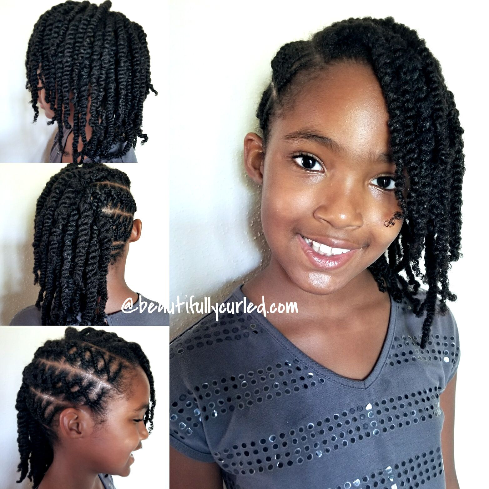 Criss Cross Cornrow Braids with Side Twists First Attempt