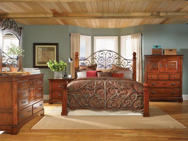 solid wood bedroom furniture iron bed frame laminate wood flooring