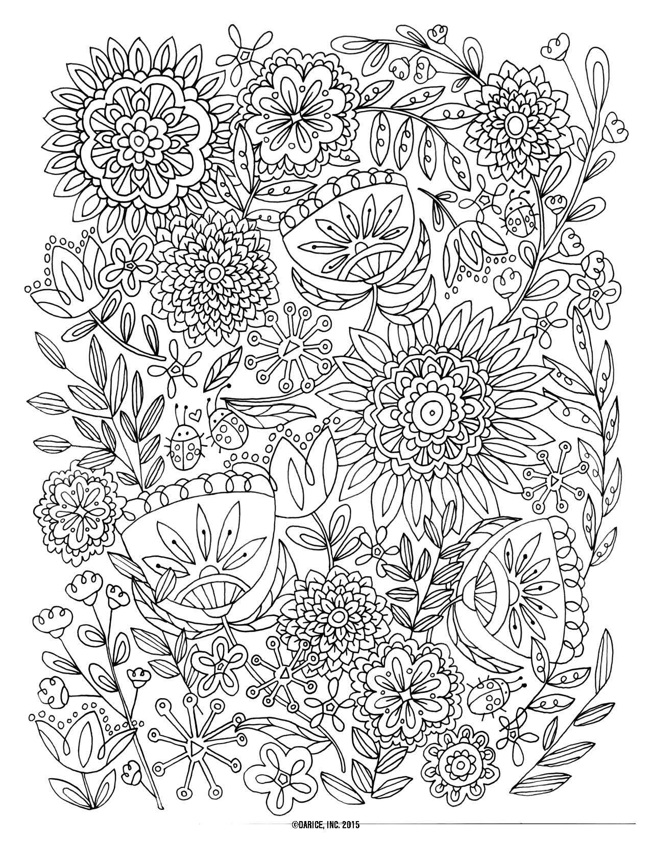 Free Printable Flower Coloring Pages For S