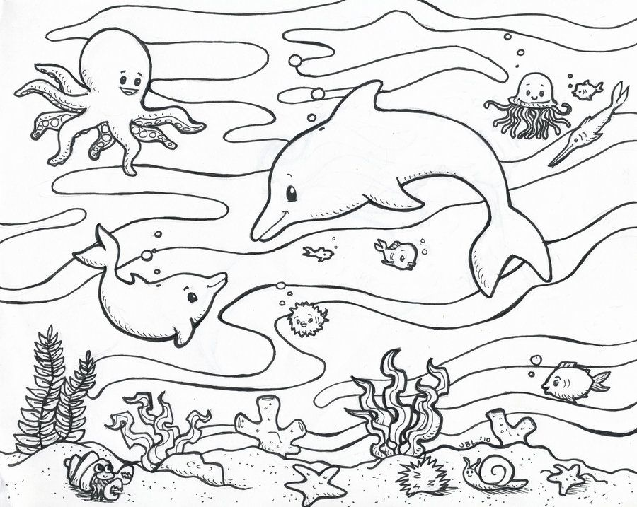 ocean life coloring pages and ocean coloring pages on pinterest