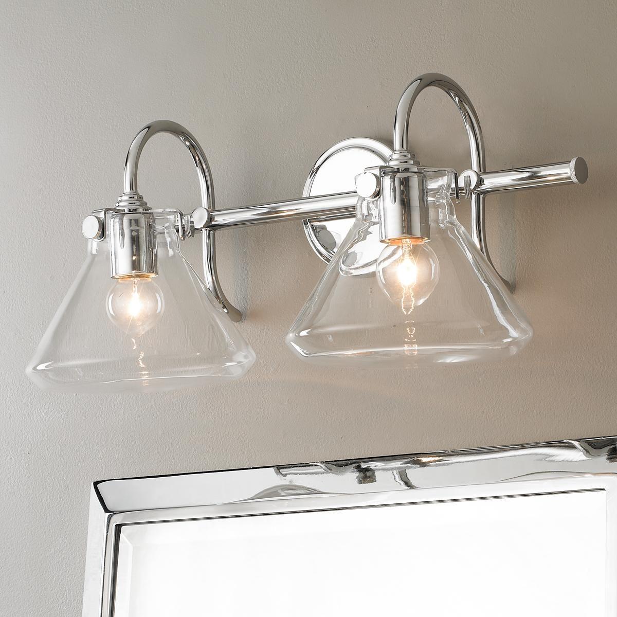 Beaker Glass Bath Light 2 Light Bath light and Oil