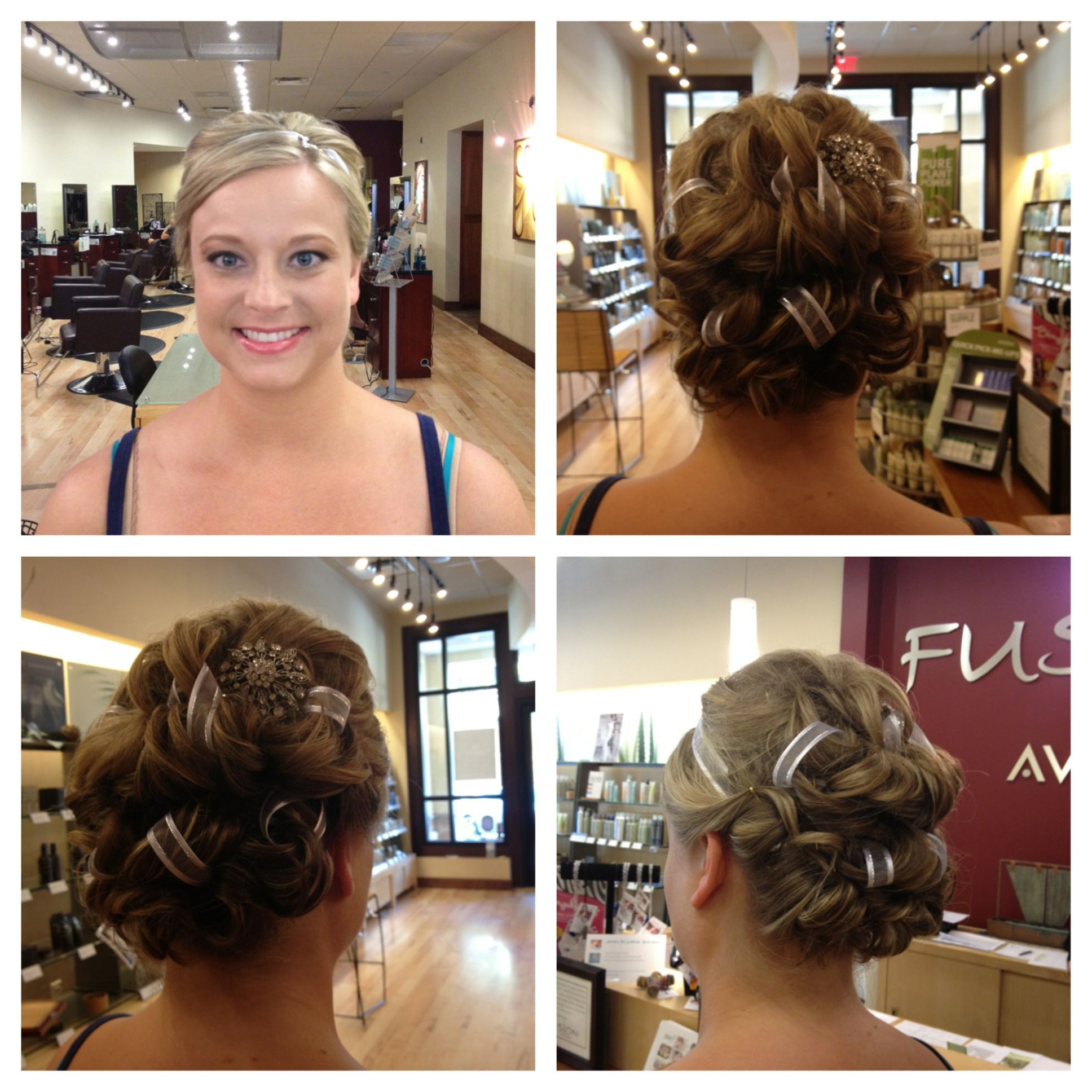 Check out this bridal updo with an intricate ribbon detail from