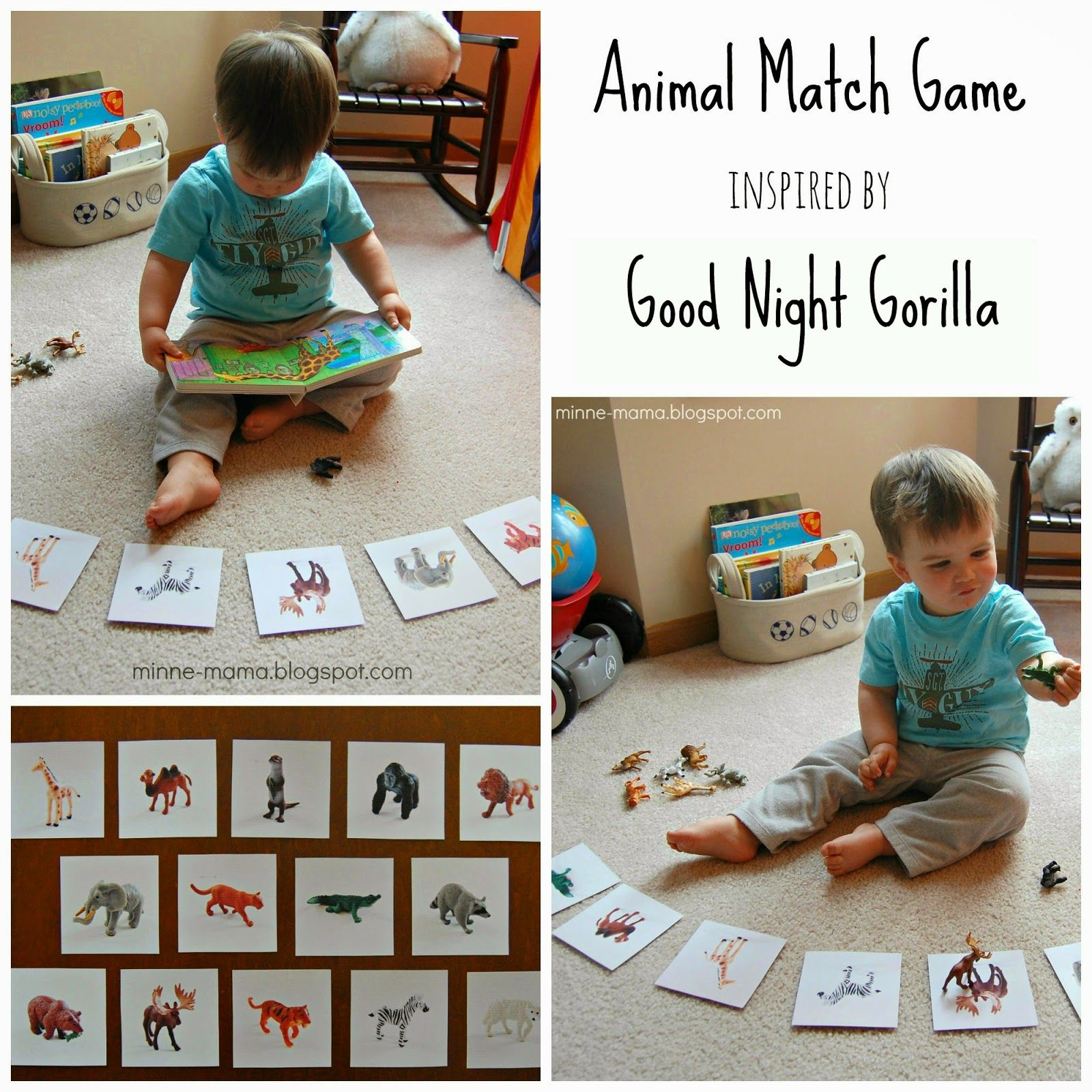 Good Night Animals Match Game