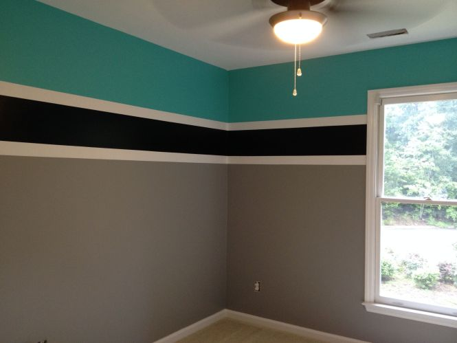 Final Product Age Boys Room Colors For A Swimmer Benjamin Moore Teal Tone Boy Bedroomsbedroom Paint Ideas