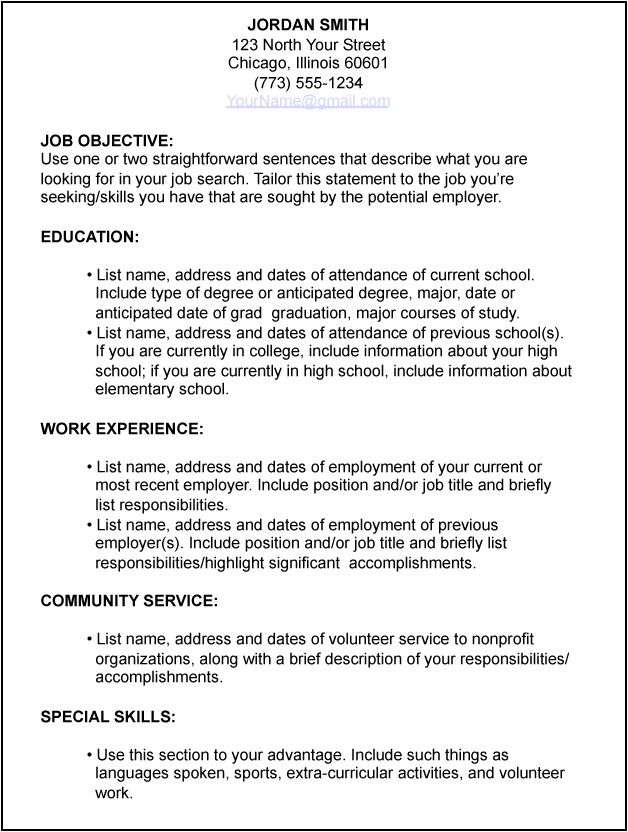 template for resume first job free resume template eduers resume