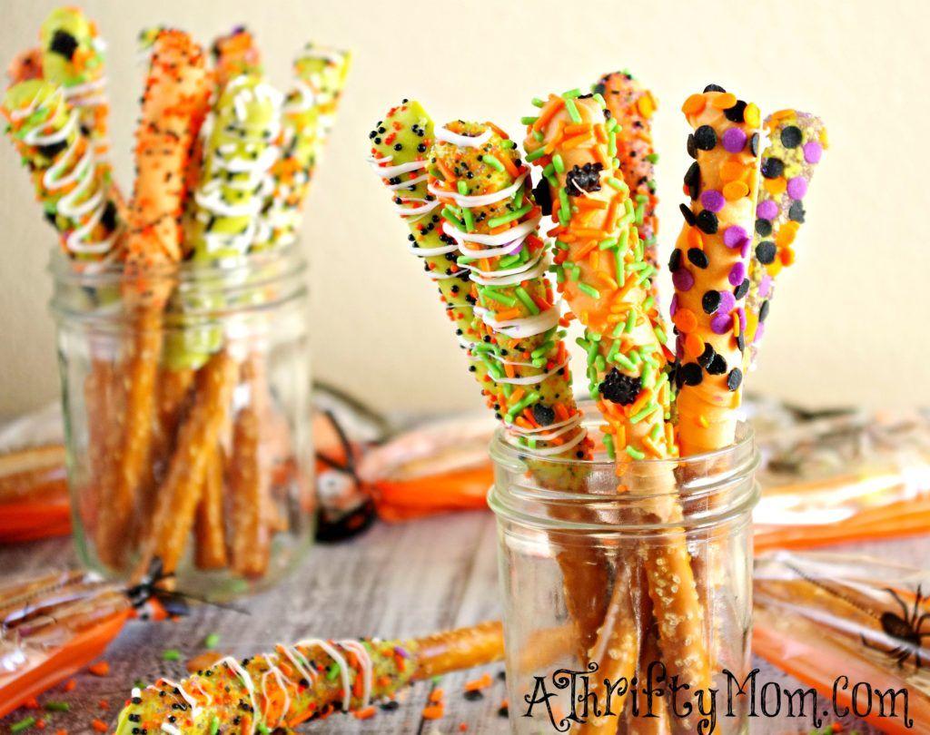 Gourmet Halloween Pretzel Rods, Halloween Recipes, Easy