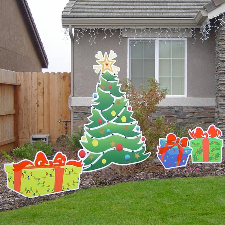 Christmas decorations yard art for Wood decoration patterns