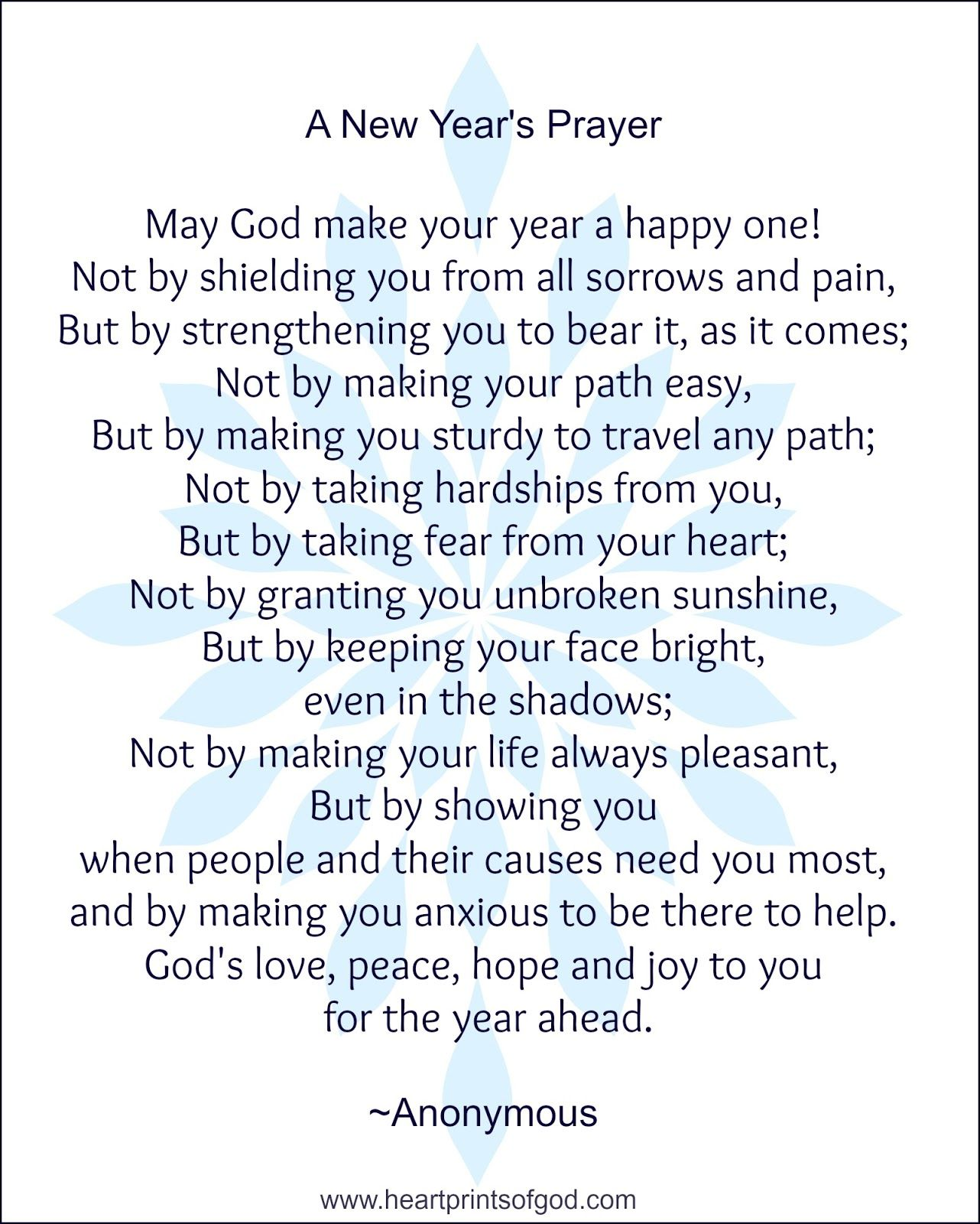 A New Year's Prayer for You