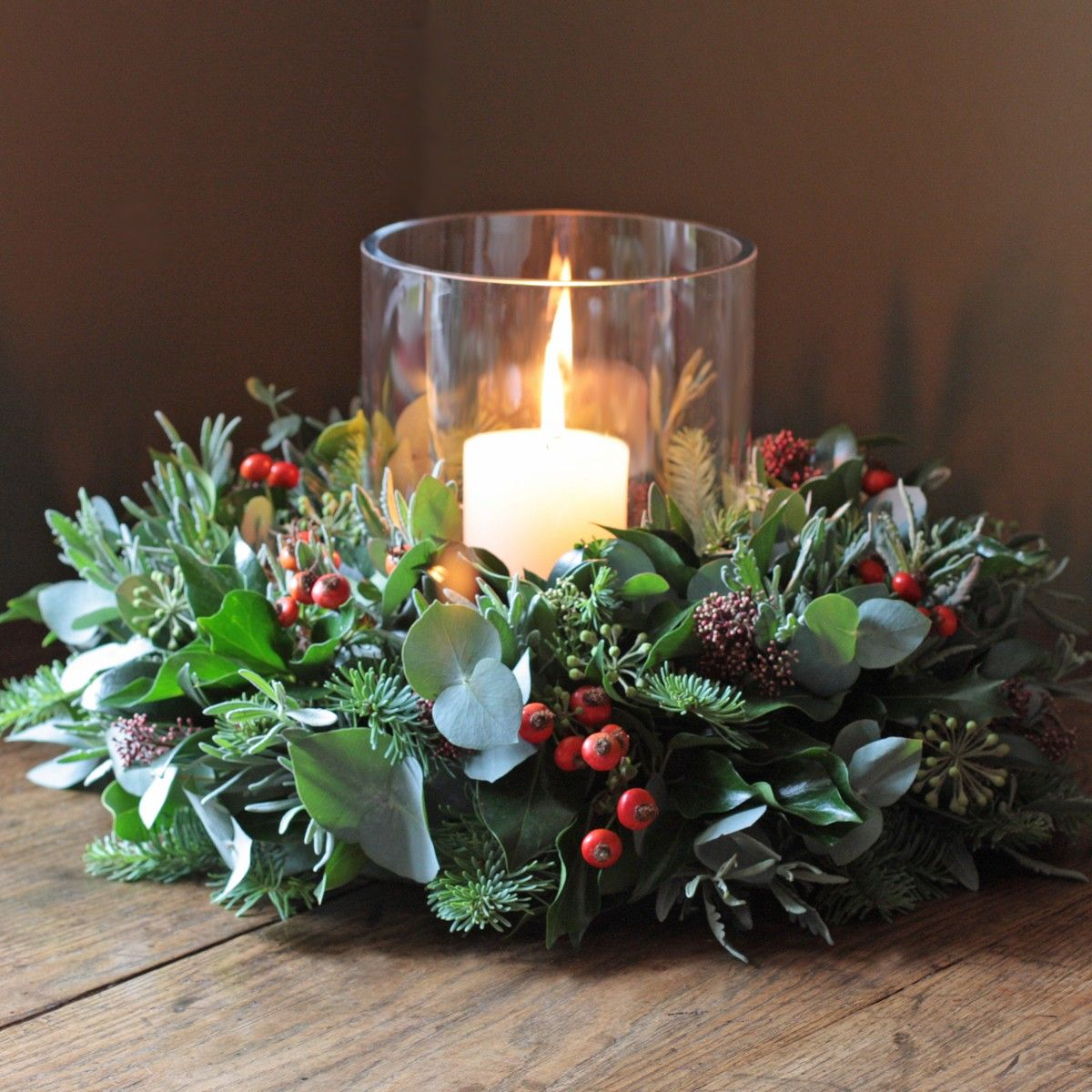 Wreath With Candle for Christmas Healthy Inside and
