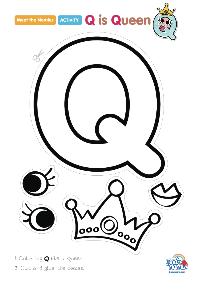 'Q is Queen' craft! A whole craft series to go with our