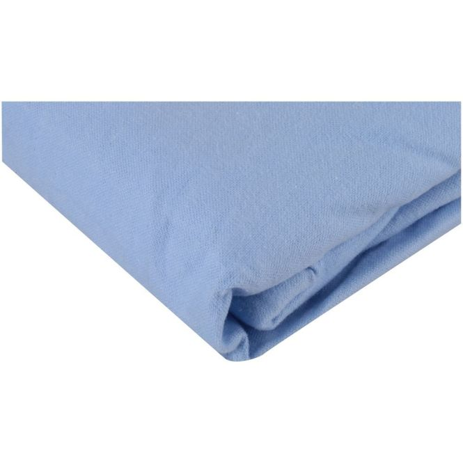 Flannel Crib Sheet Cotton Soft Warm Boy Infant Toddler Bed Mattress Cover Blue