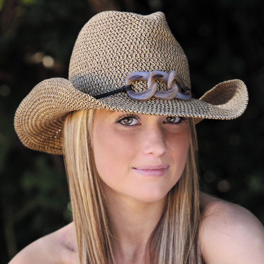 Sun hat Ladies hat Fine Braid Cowboy UPF50+ EXCELLENT