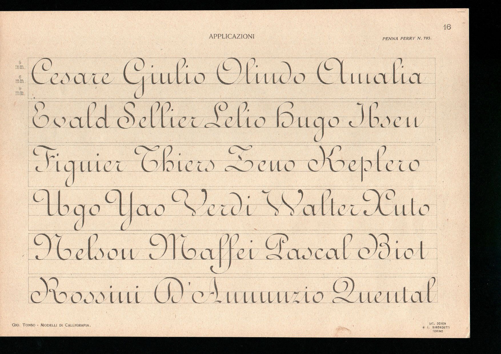 Early 20th Century Ronde Copybook Click Through For A Full Set Of Lessons And Exemplars