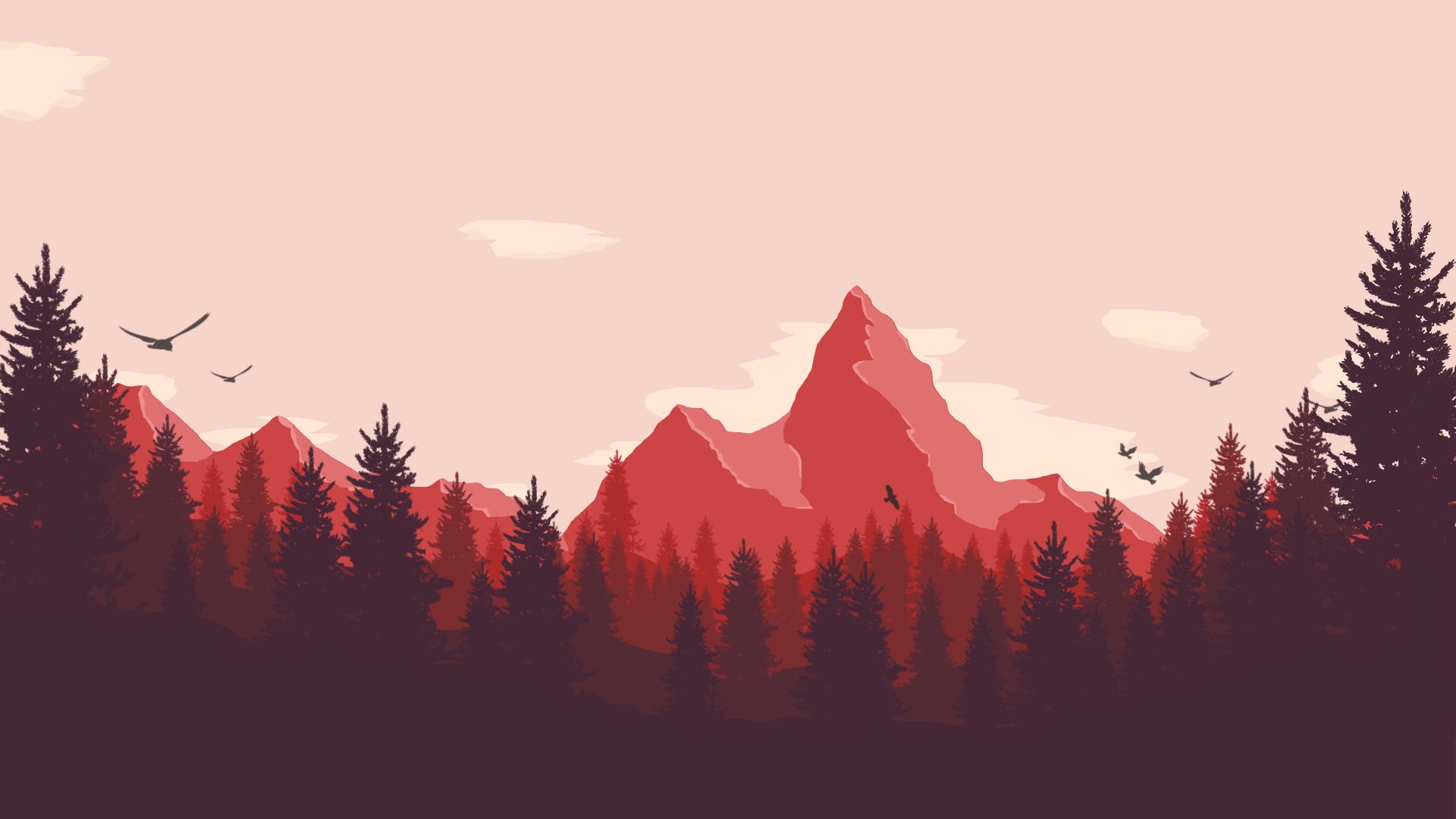 1920 x 1080 Mountains, Low Poly, Desktop Wallpaper! This