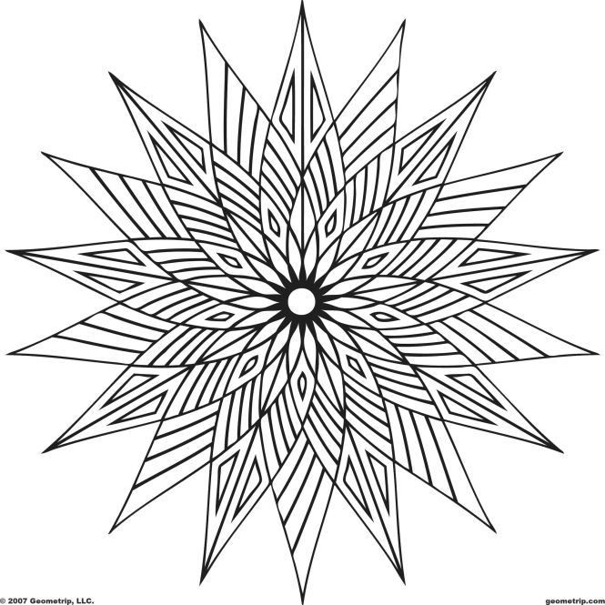 These Geometric Coloring Pages Pictures Are Online That Can Be Colored With Color Grants