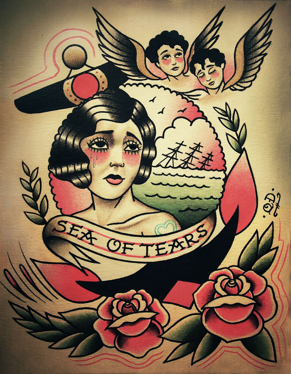 A sea of tears. Traditional and old school flash by Quyen