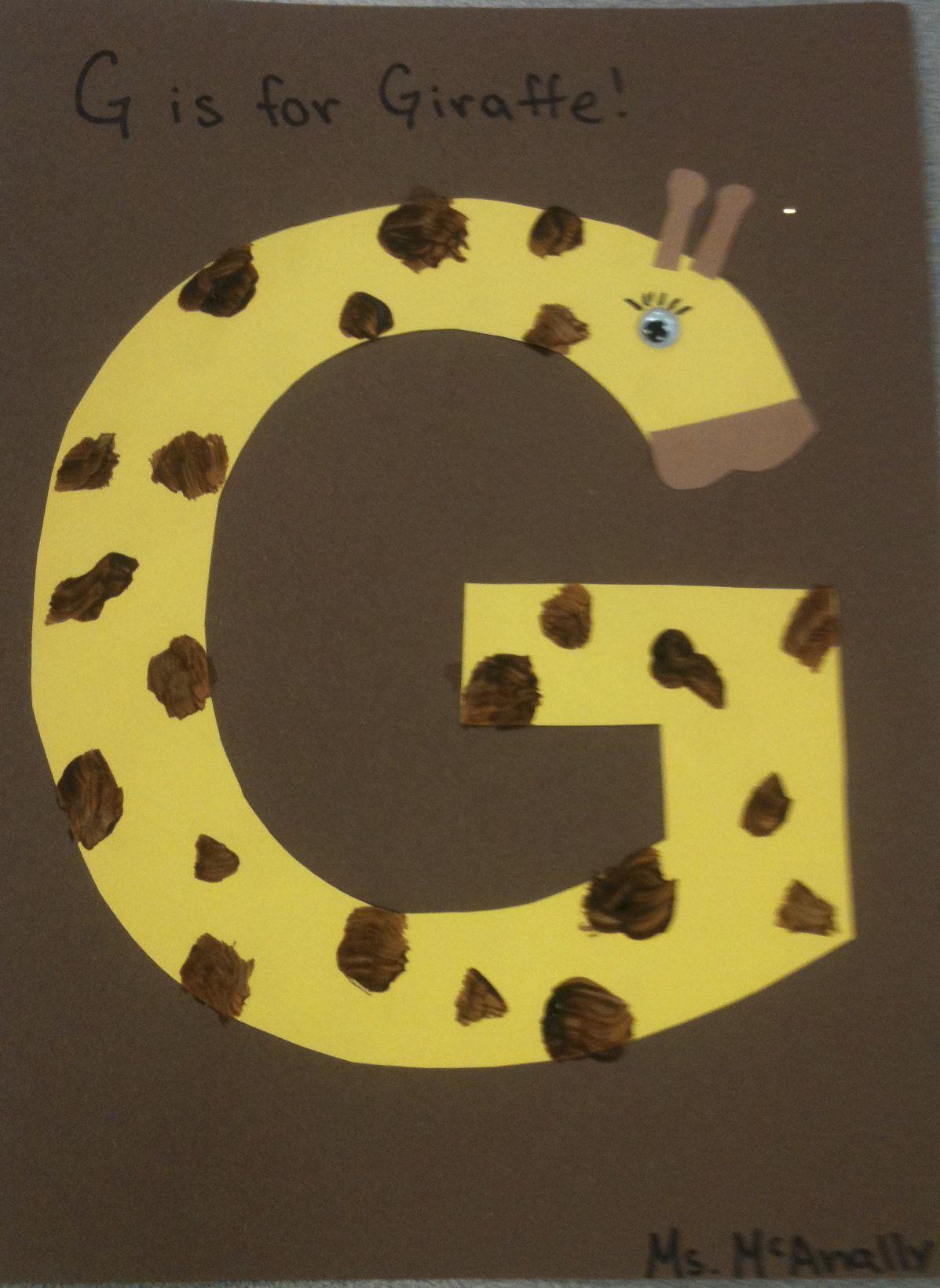 I Design Animals For Each Letter Of The Week G Is For Giraffe