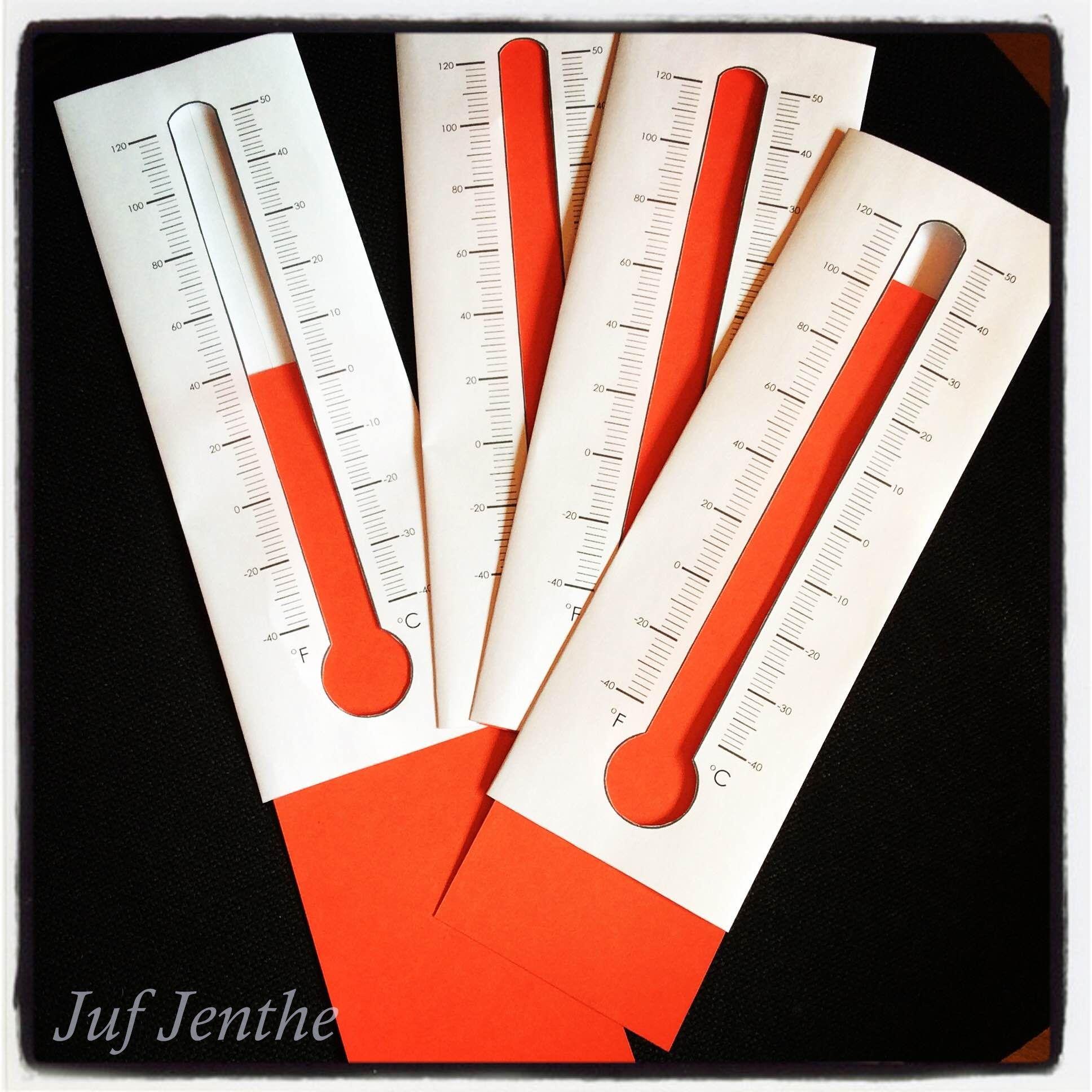 Didactisch Materiaal De Temperatuur Op Een Thermometer