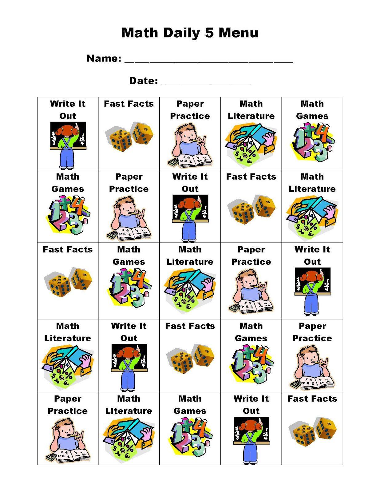 Second Grade Scrapbook Daily Five Math