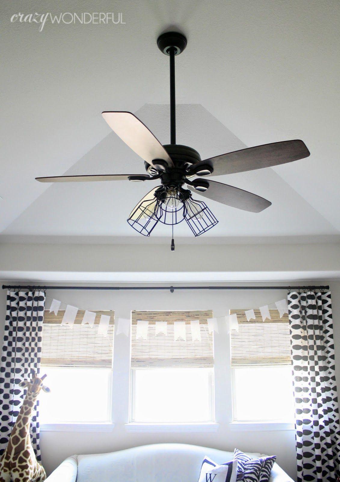 Crazy Wonderful DIY cage light ceiling fan Someday