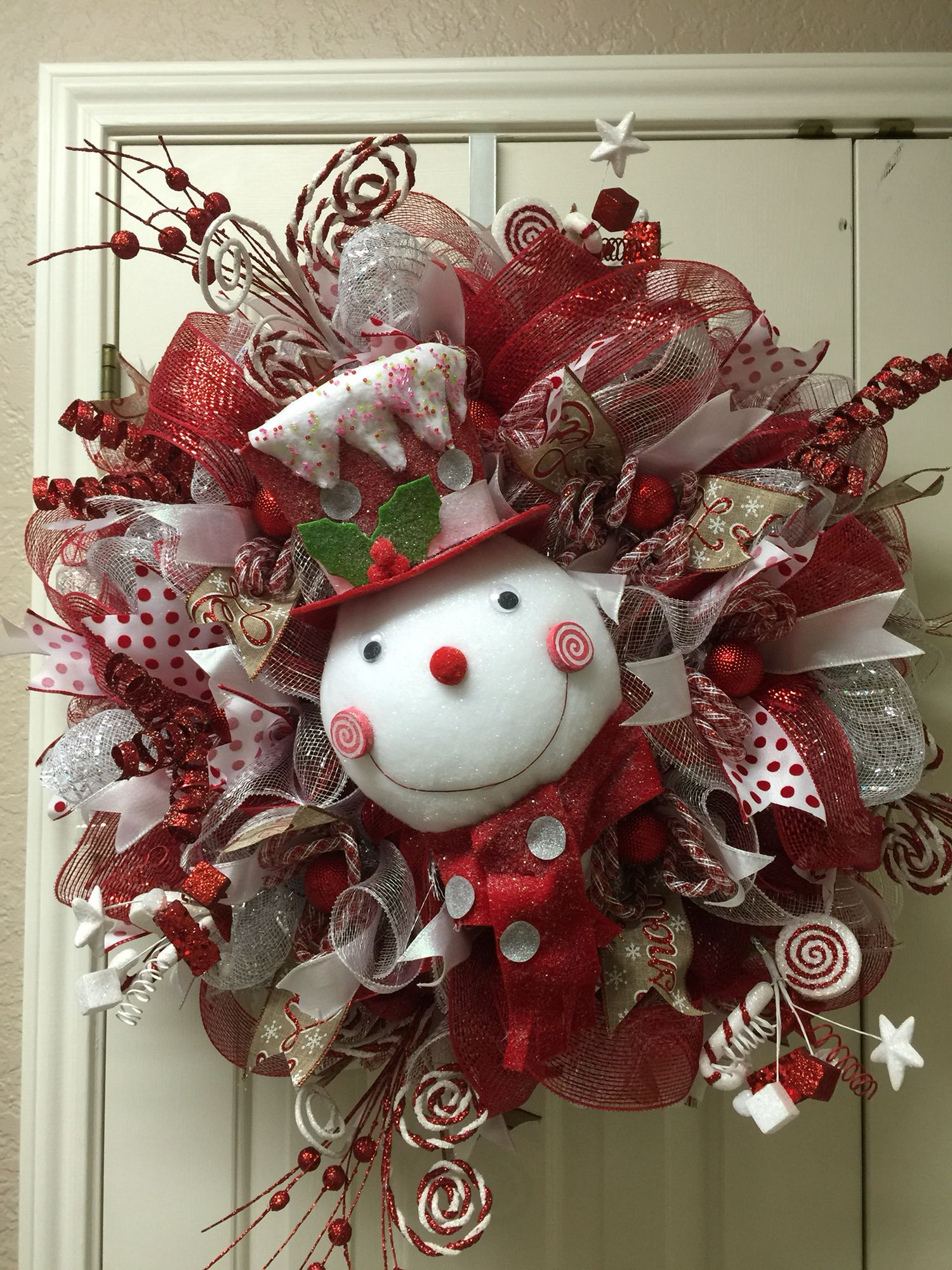 Snowman wreath by Twentycoats Wreath Creations Wreaths