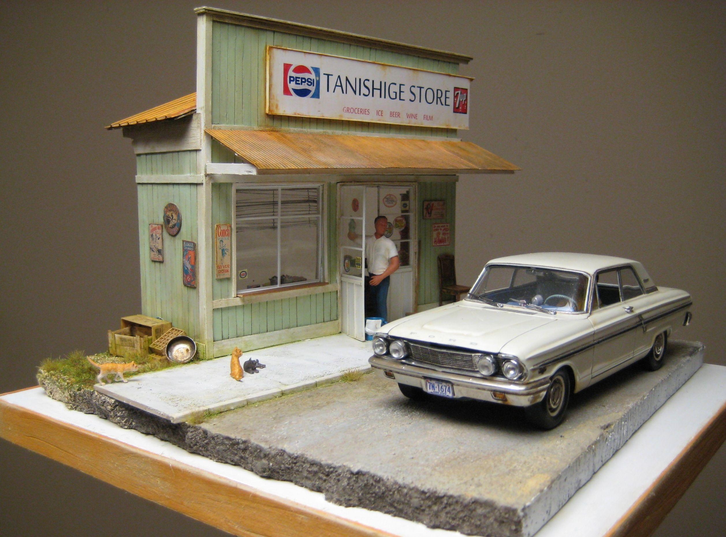 Tanishige Store 1/25 Scale Model Diorama Dioramas