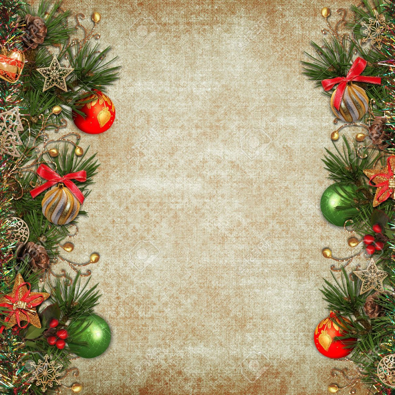 Vintage Christmas Background Stock Photo, Picture And