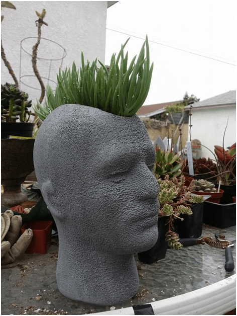 Five Fabulous Examples of Mannequin Heads as Floral Pots