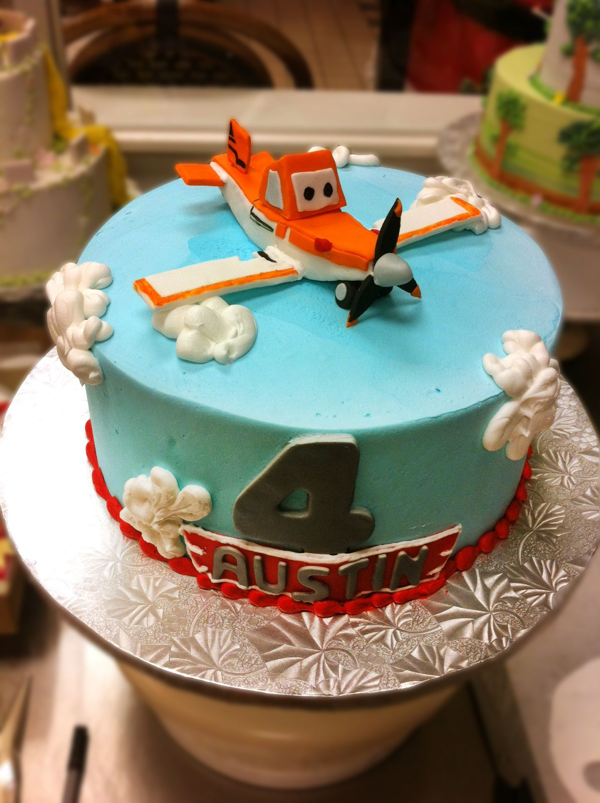 Planes Cake Airplane Birthday Cake 018