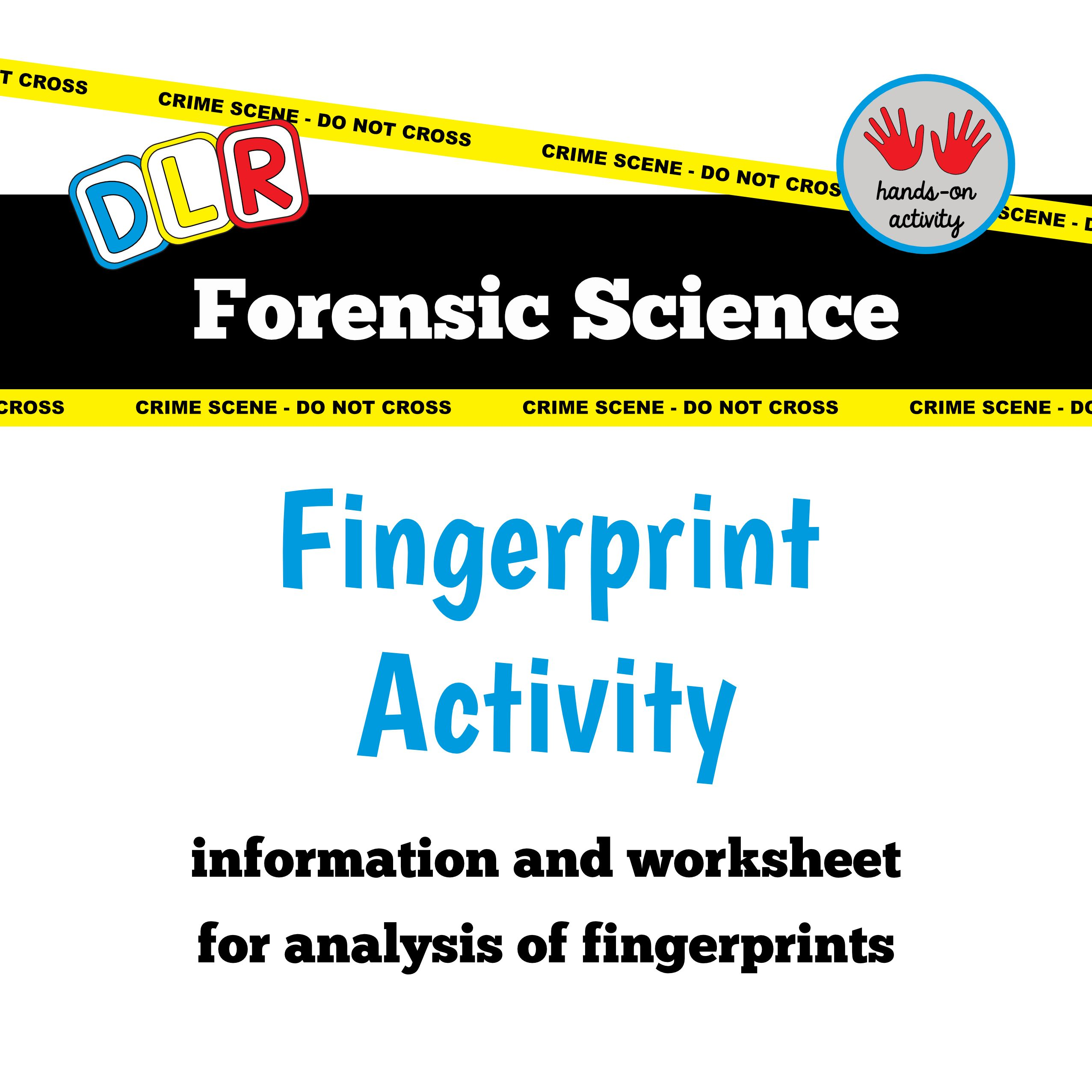 Forensic Science Free Worksheet Fingerprint