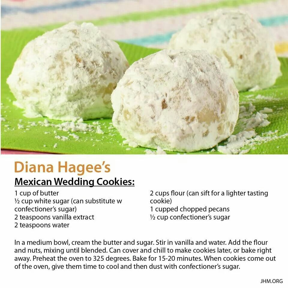 Diana Hagee's Mexican Wedding Cookies recipes