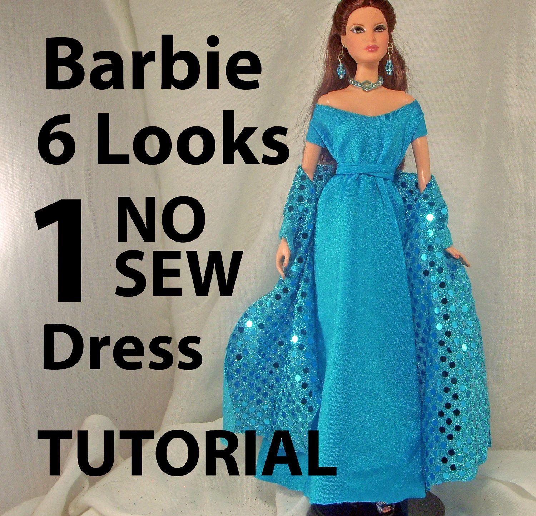 DIY no sew patterns for little barbie dolls Google