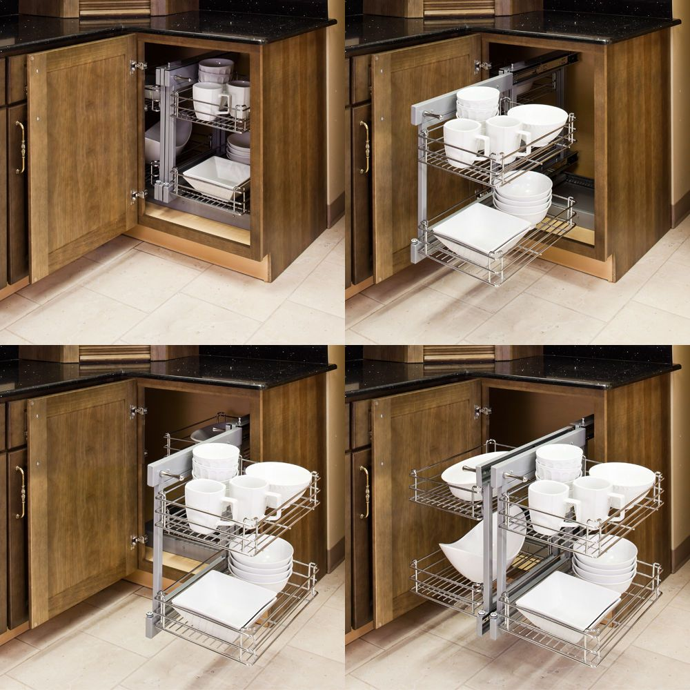 Show Hand Metal PullOut Unit For blind Corner