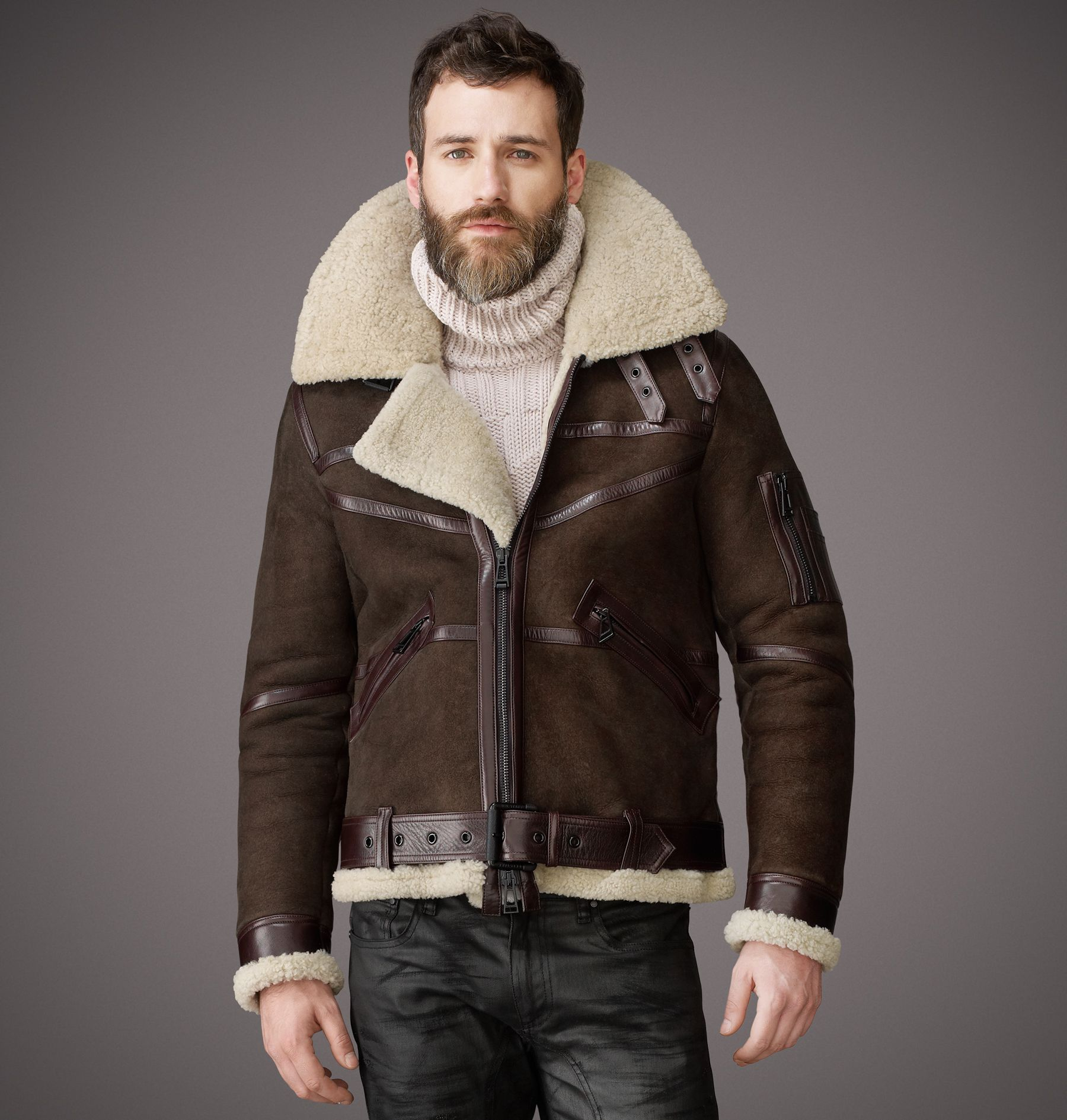 Belstaff Bridlington Jacket Shearling Jacket Made in Italy