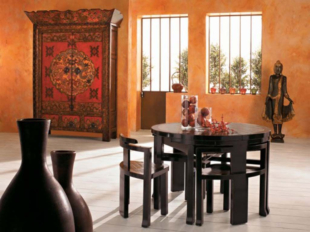 Furniture: Charming Asian Dining Room Furniture, Adorable