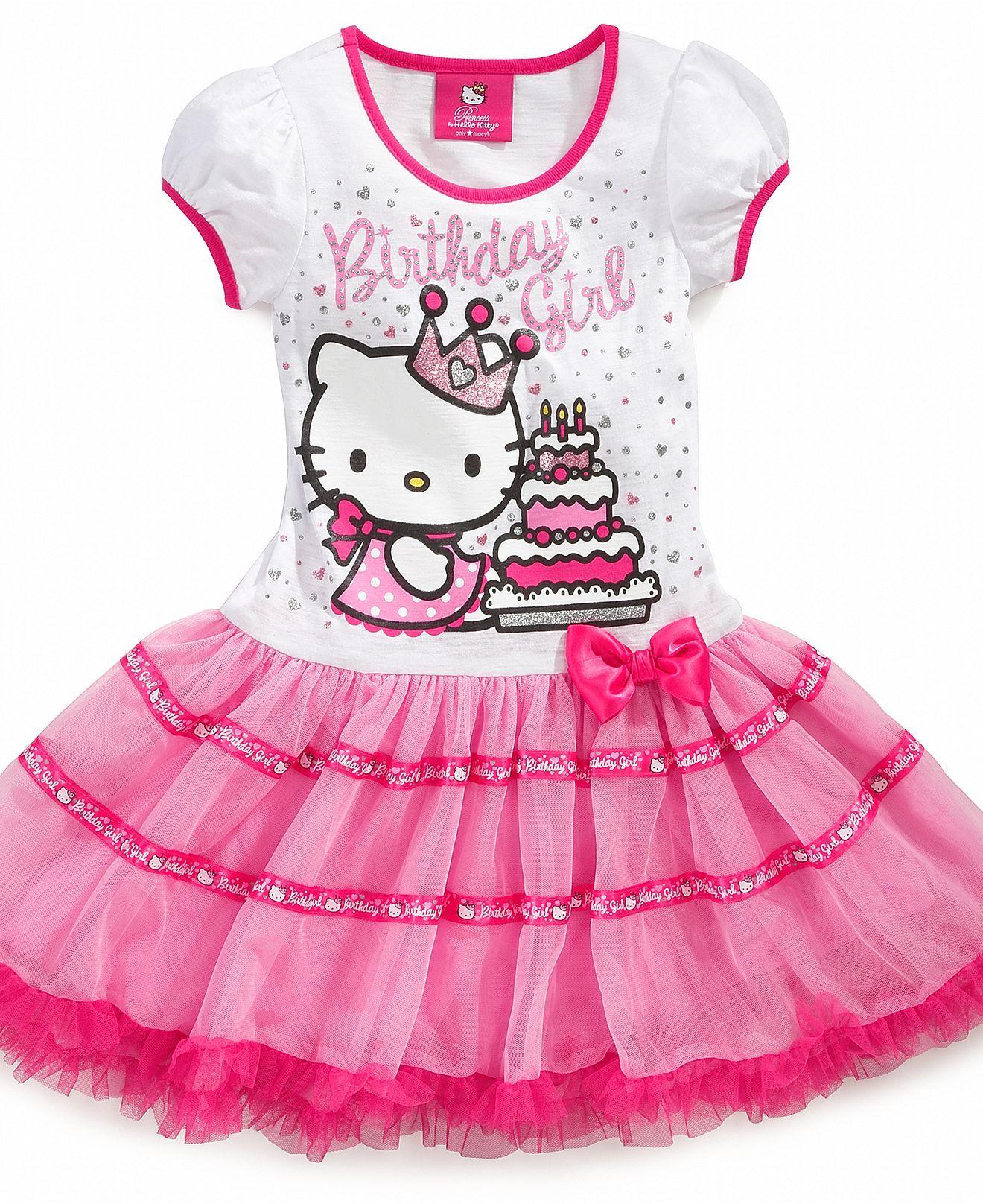 Hello Kitty Kids Dress Little Girls Birthday Tutu Dress