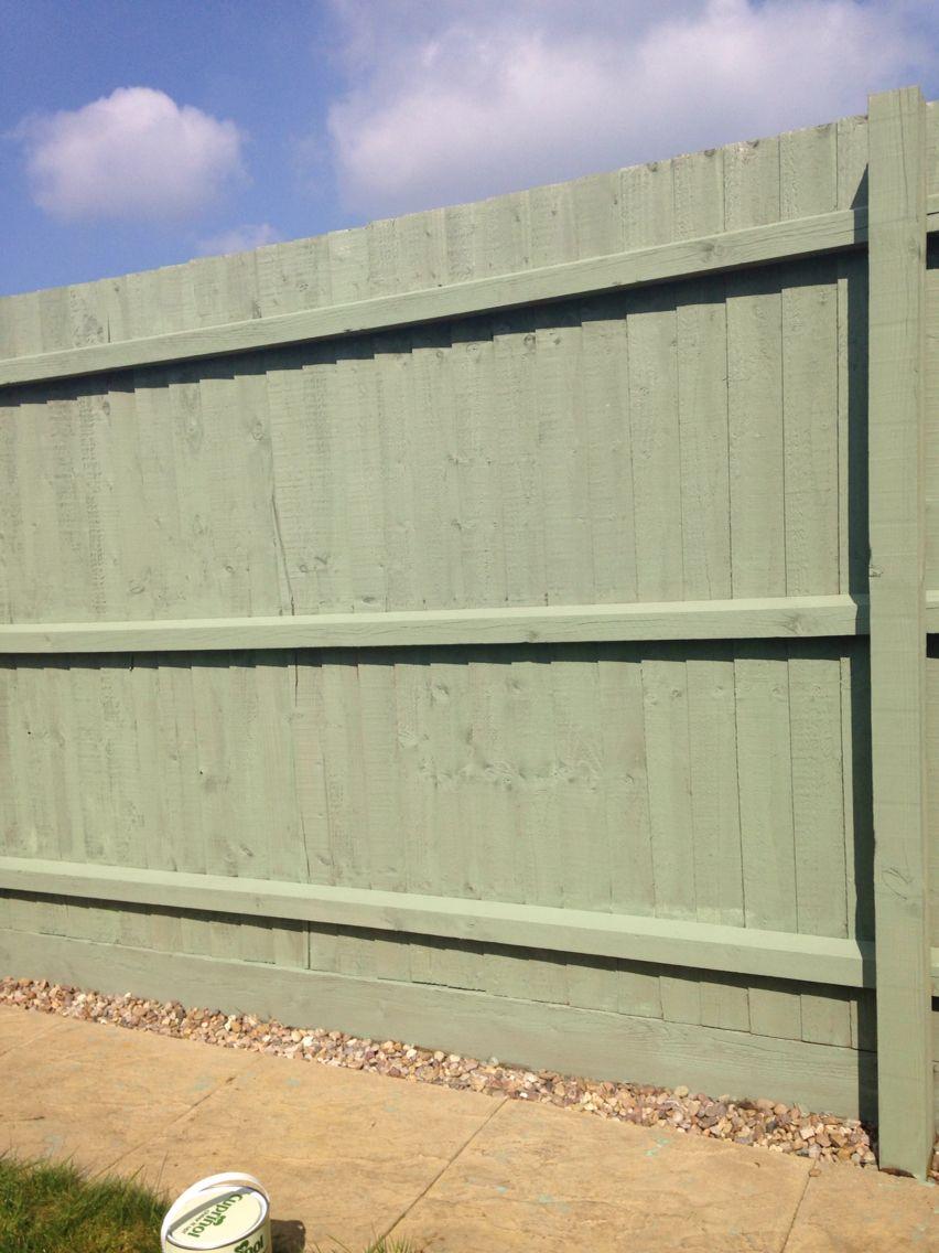 Cuprinol shades willow. Fence paint. Garden
