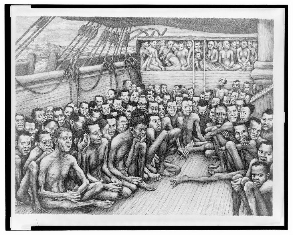 African Slaves On Board A Slave Ship Bound For The