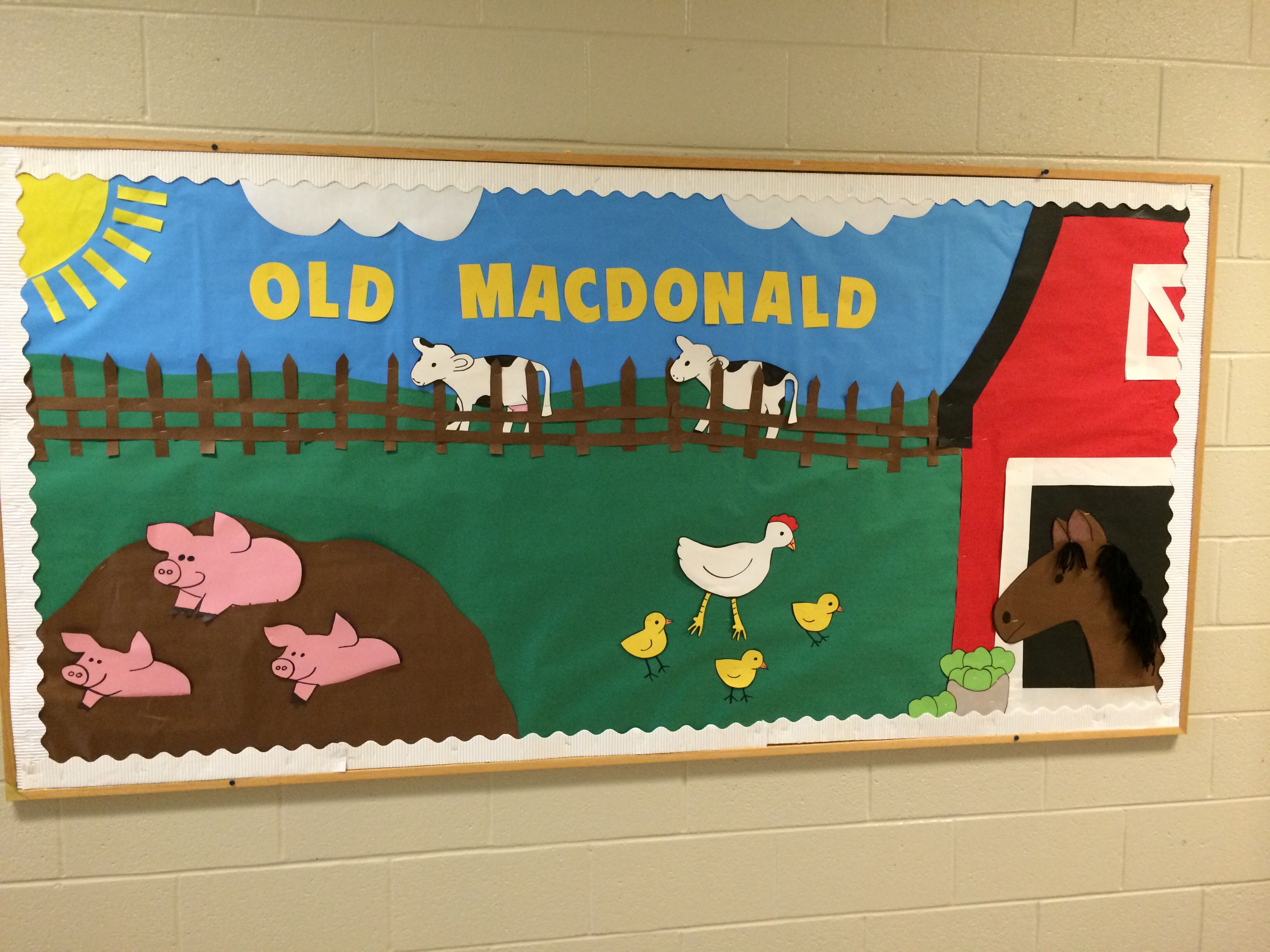 Old Macdonald Bulletin Board Farm Bulletin Board