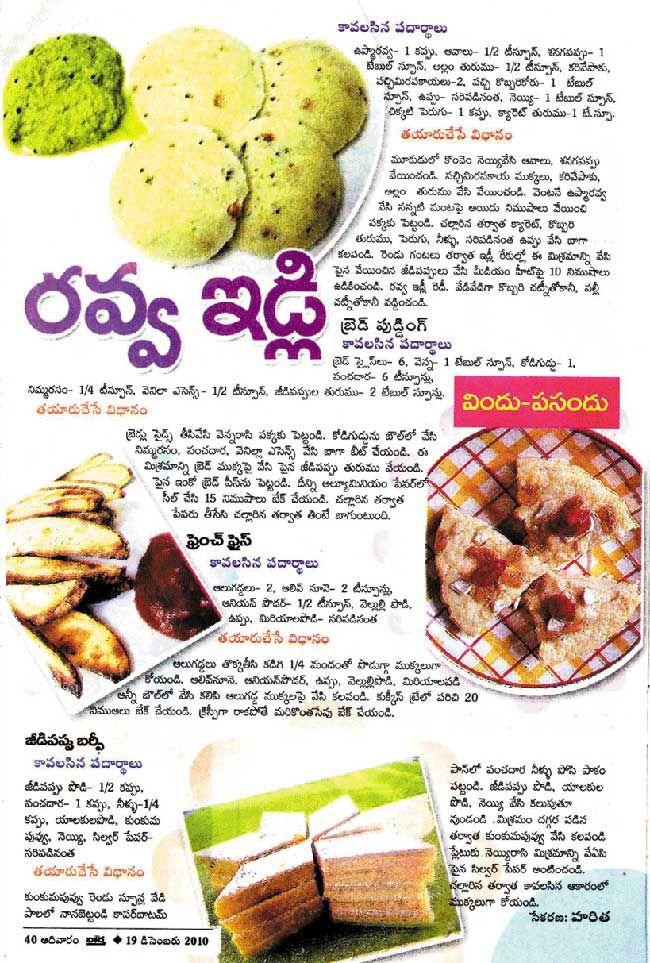 Telugu Vantalu Telugu Recipes Vantakalu Vindu Pasandu