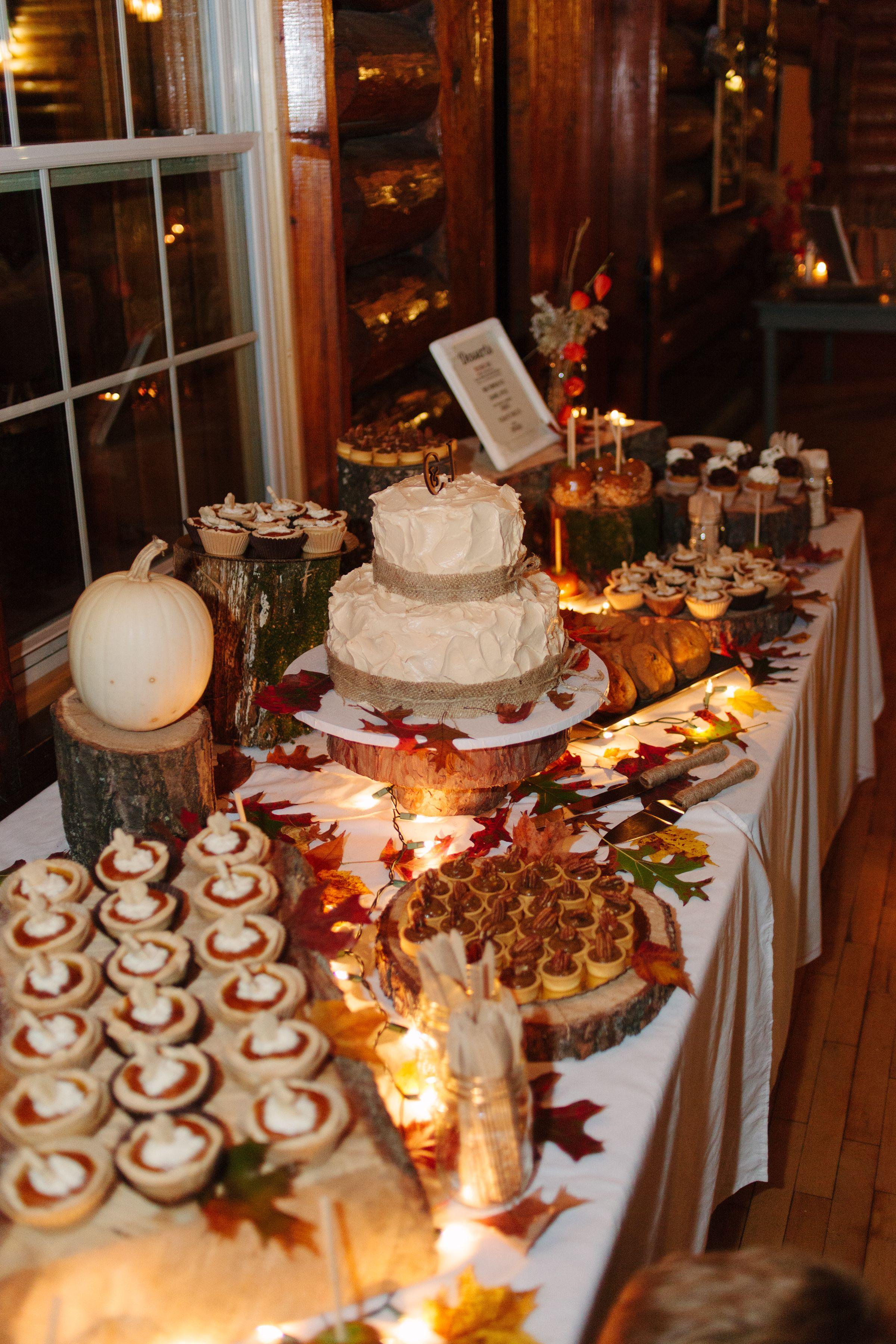 Fall Wedding Dessert Table