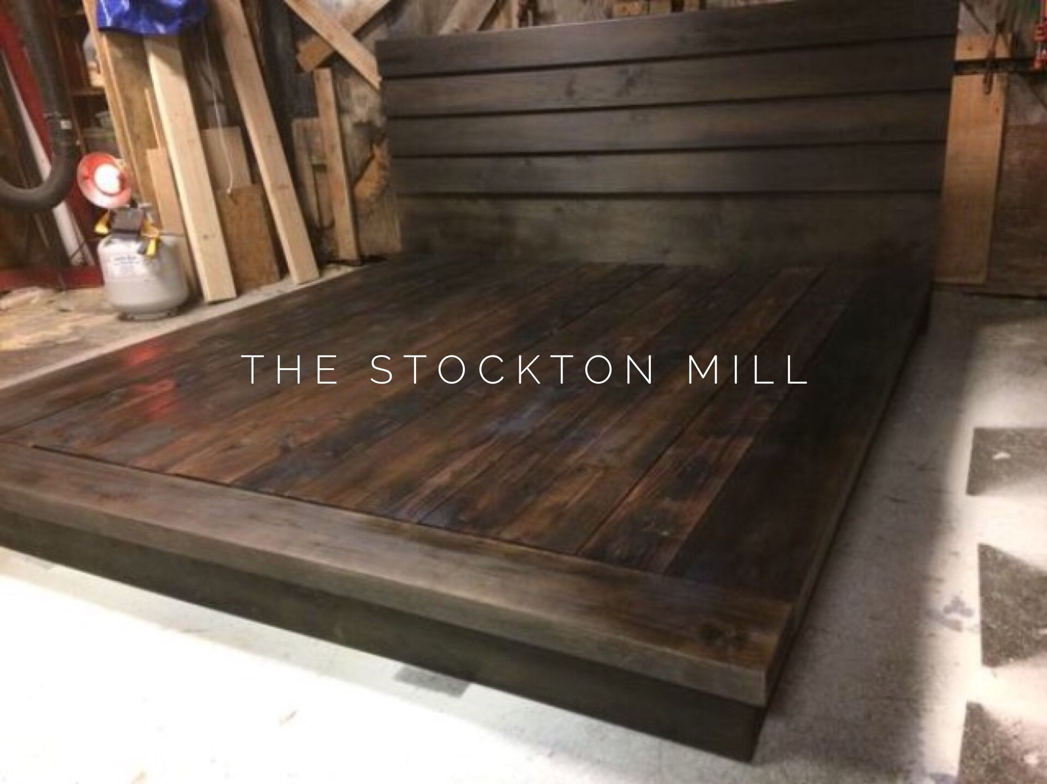 Hardwood Platform Bed King Size Wood Bed Ruby Collection